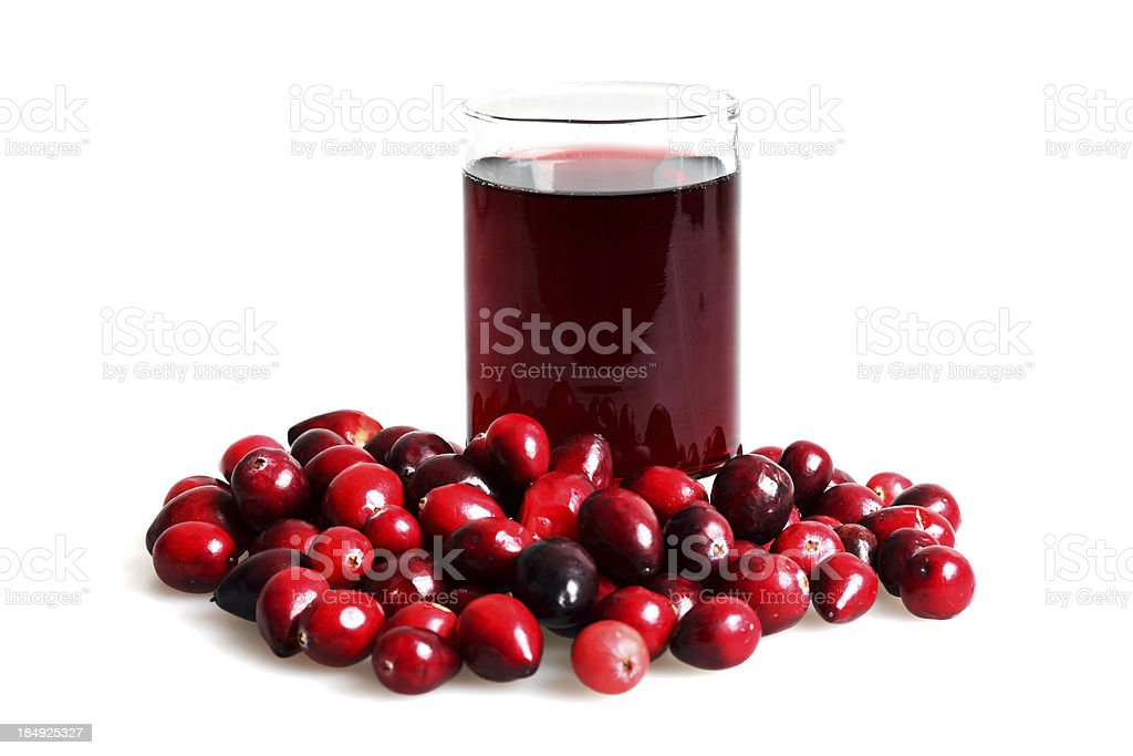 Isolated Cranberry Juice royalty-free stock photo