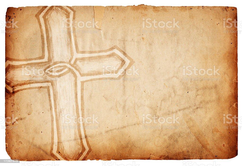 Isolated Cross Paper XXXL stock photo