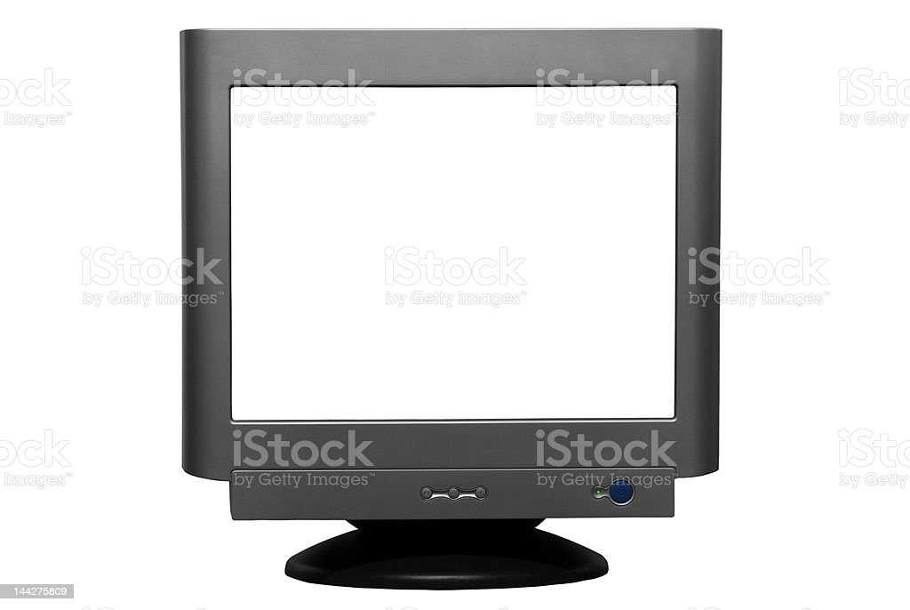 Isolated CRT Monitor (with Clipping Path) stock photo