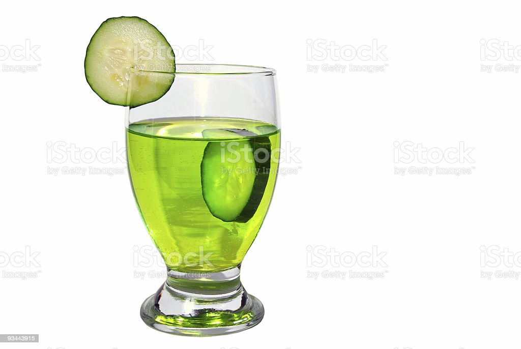 Isolated Cucumber Drink royalty-free stock photo