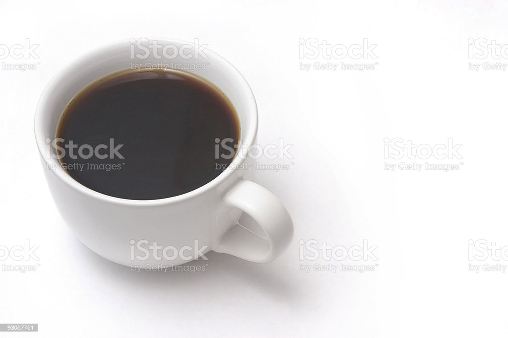 Isolated Cup of Coffee royalty-free stock photo