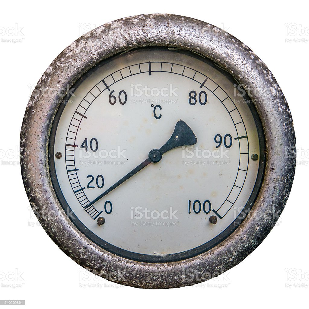 Isolated Dial Thermometer stock photo