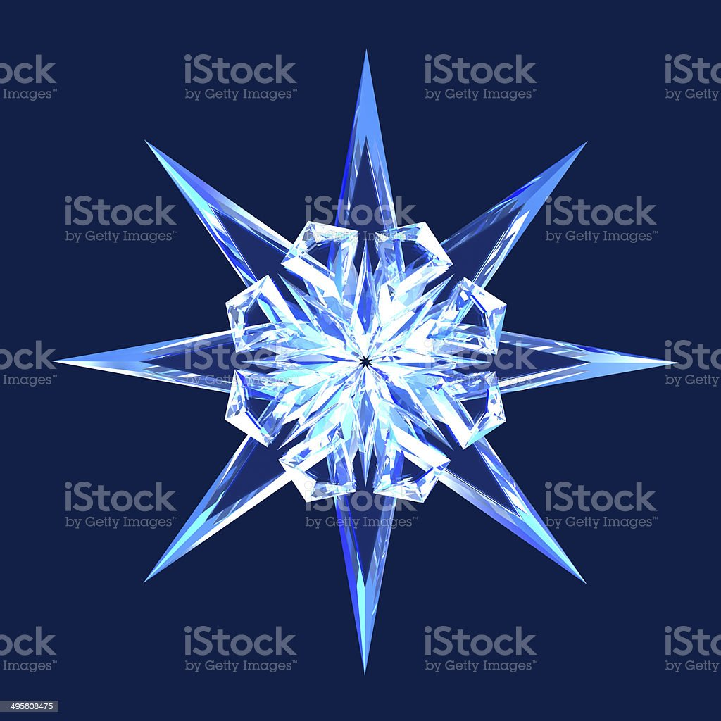 Isolated diamond star stock photo