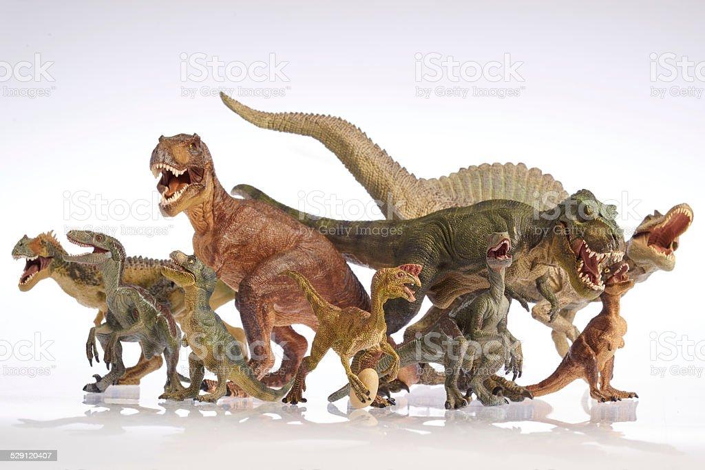 Isolated dinosaur on white background stock photo
