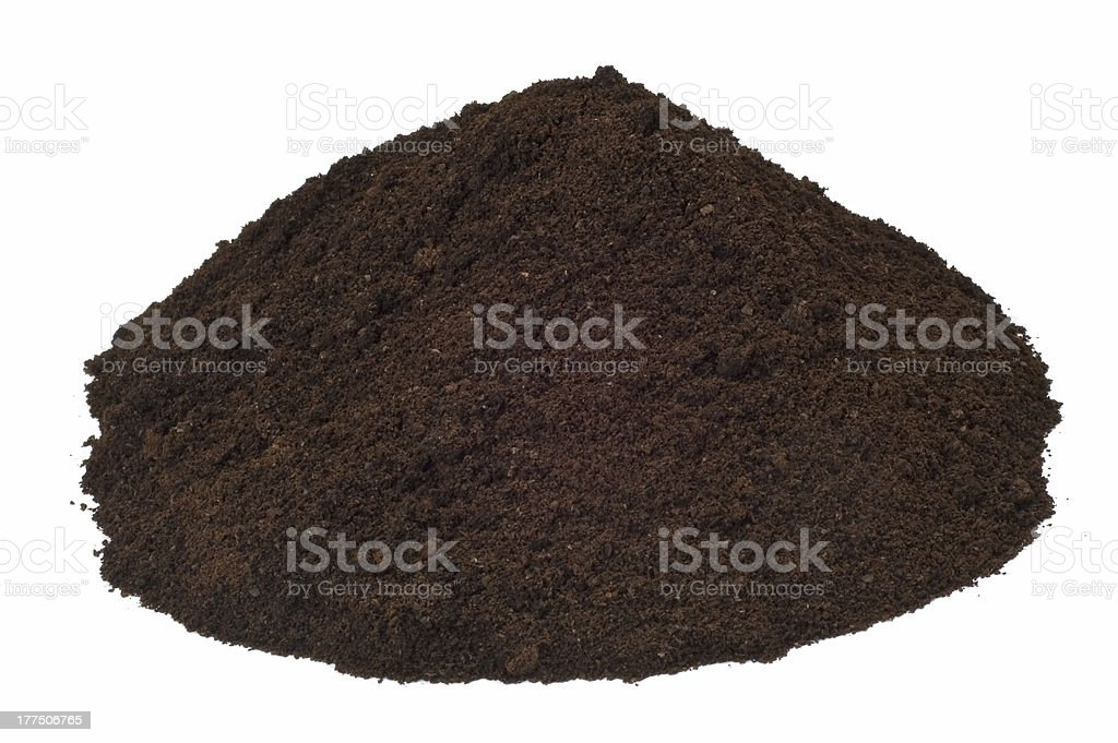 Isolated Dirt Hill royalty-free stock photo