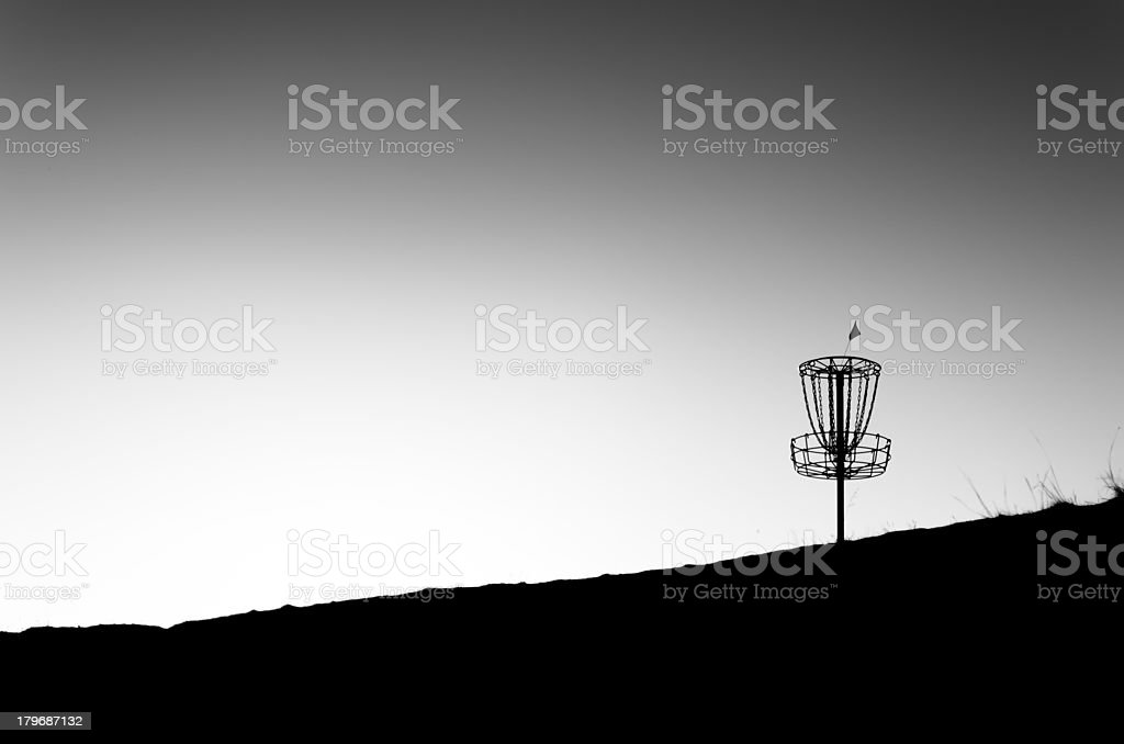 Isolated Disc Golf Basket stock photo