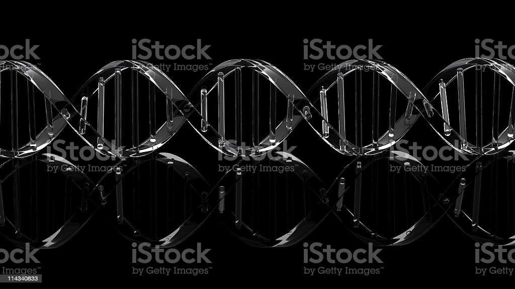 Isolated Dna royalty-free stock photo