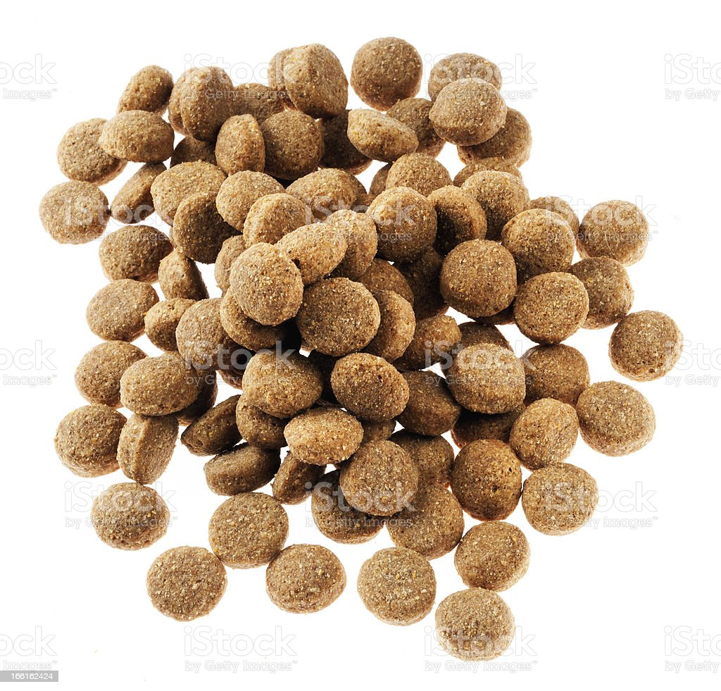 Isolated Dog Food - Top View stock photo
