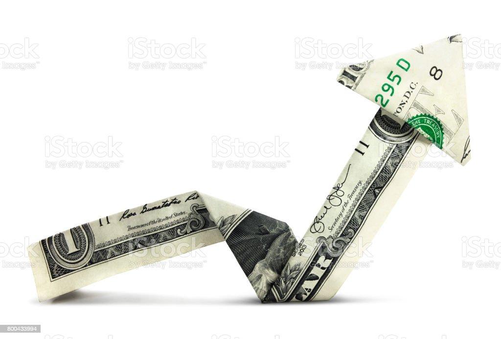 Isolated Dollar Chart stock photo