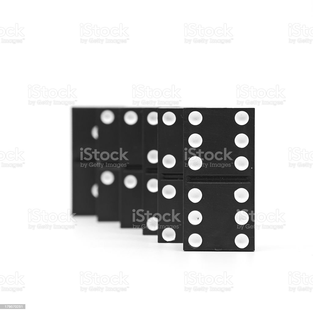 isolated -dominoes royalty-free stock photo