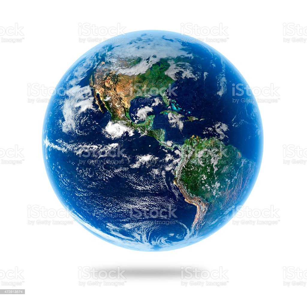Isolated Earth -  Elements of this Image Furnished by NASA stock photo