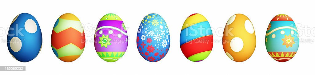 Isolated Easter Eggs royalty-free stock photo