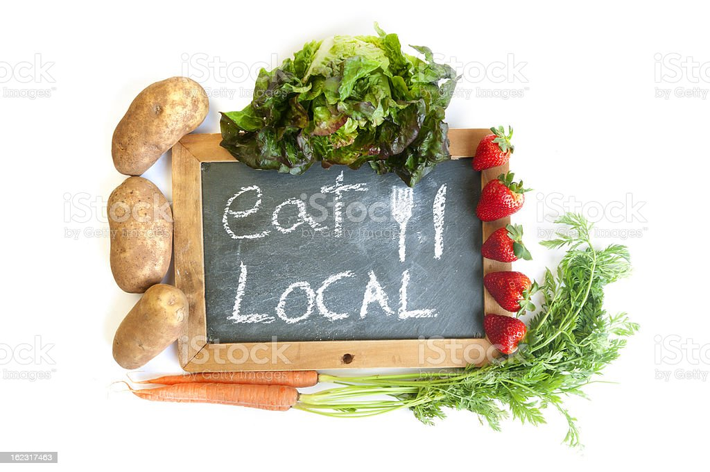 Isolated Eat Local royalty-free stock photo