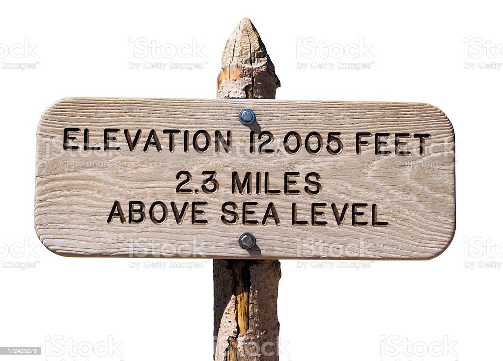 Isolated Elevation Sign royalty-free stock photo