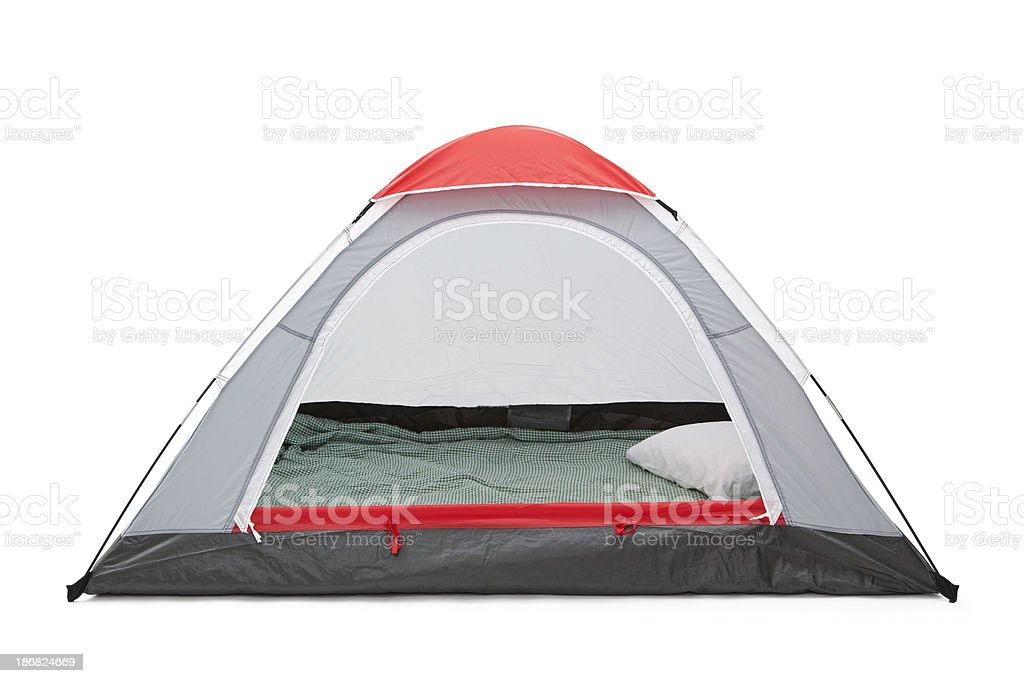 Isolated Empty Tent royalty-free stock photo