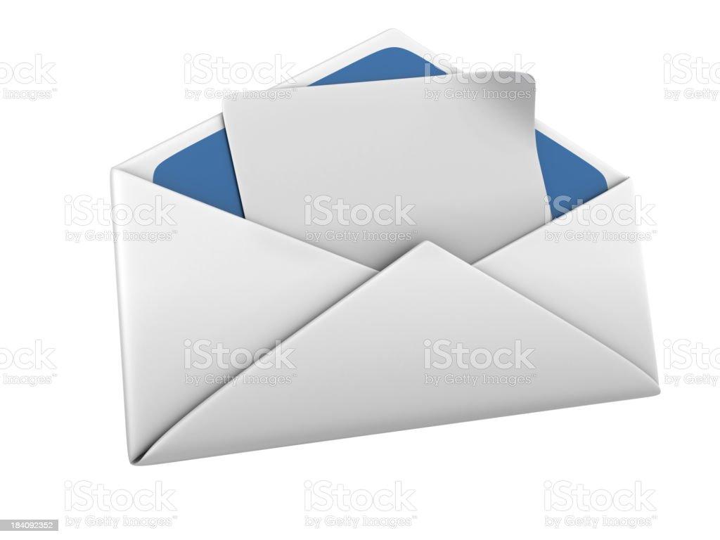 Isolated Envelope royalty-free stock photo