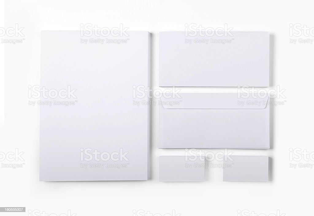 Isolated Envelopes Business Card Paper royalty-free stock photo