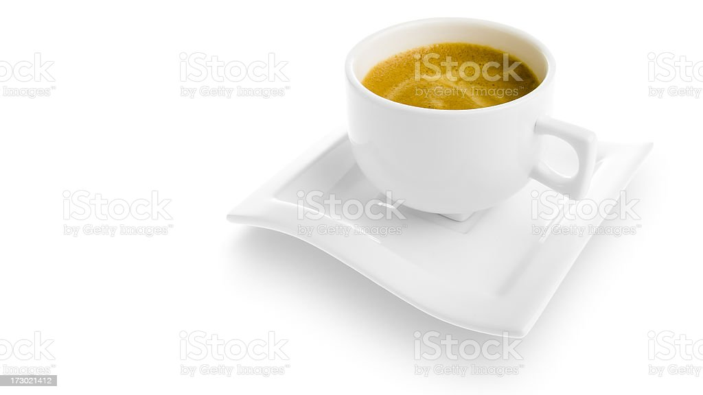 Isolated espresso cup [clipping path] royalty-free stock photo
