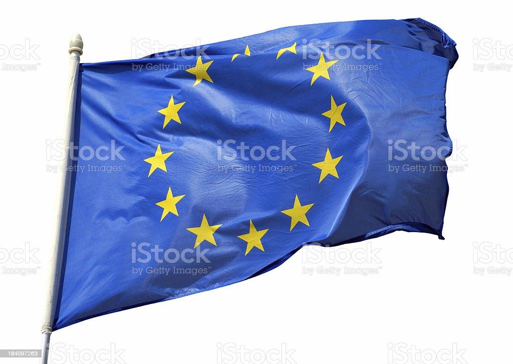 isolated EU flag royalty-free stock photo