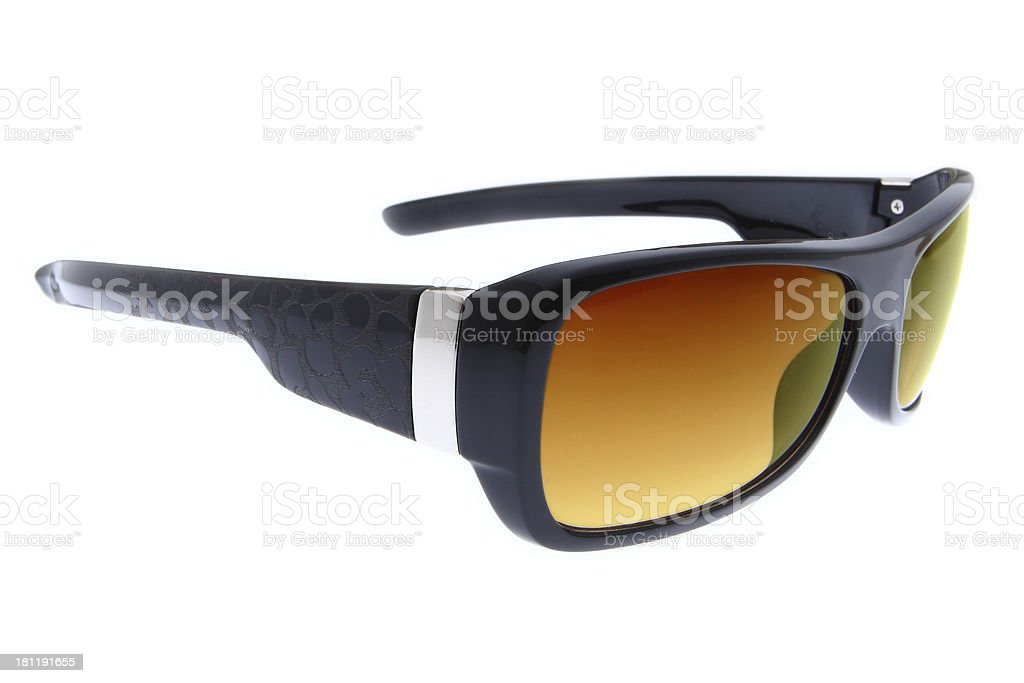 isolated fashion Brown sunglasses on white background royalty-free stock photo