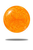 Isolated festive abstract of orange glitter ball background