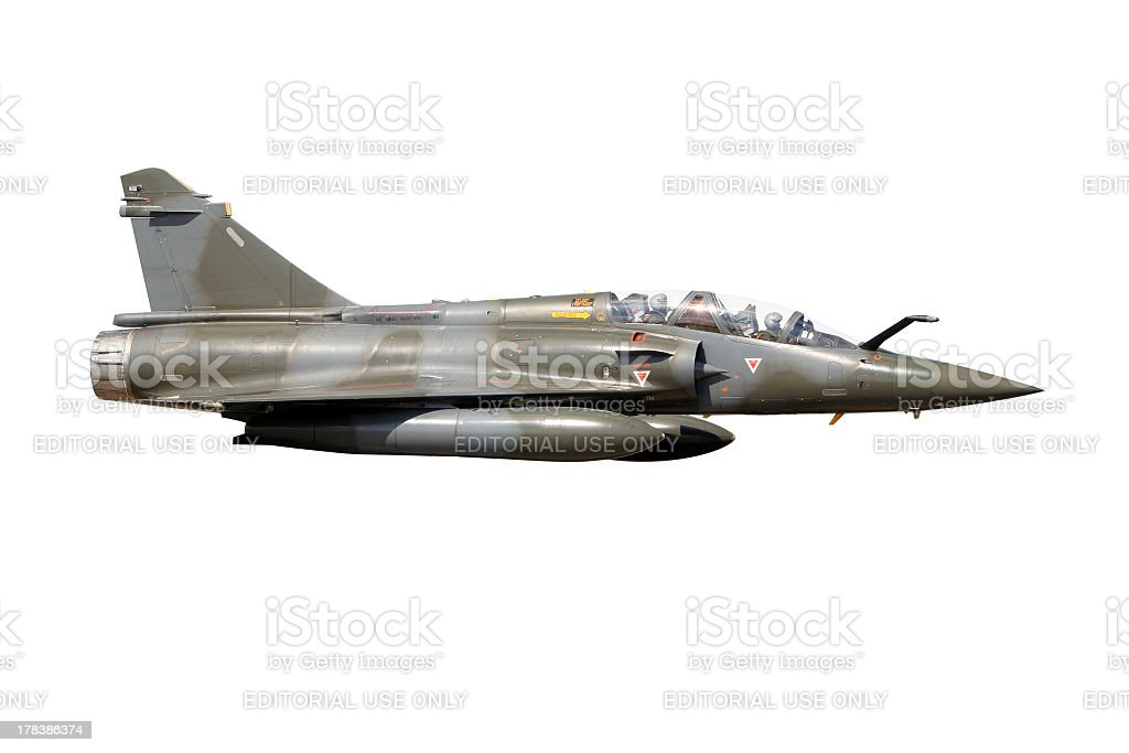 isolated fighter jet stock photo