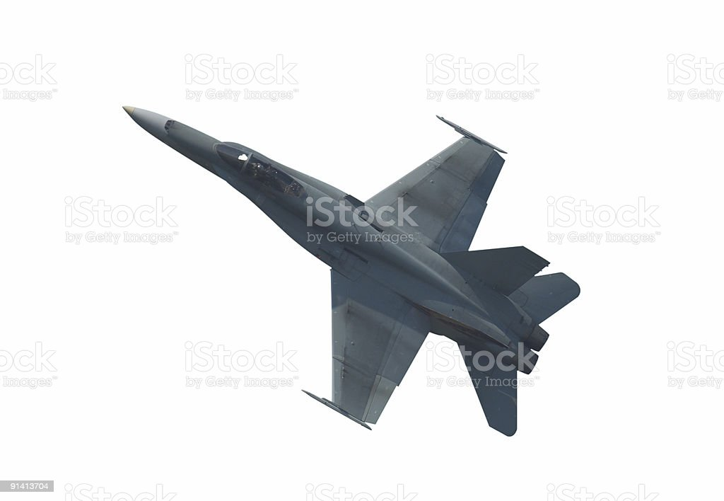 Isolated Fighter Jet royalty-free stock photo