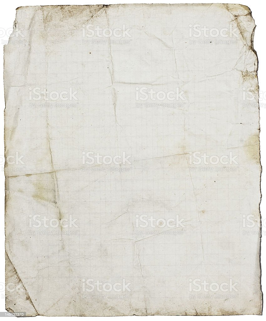 Isolated fine-textured lined school paper royalty-free stock photo