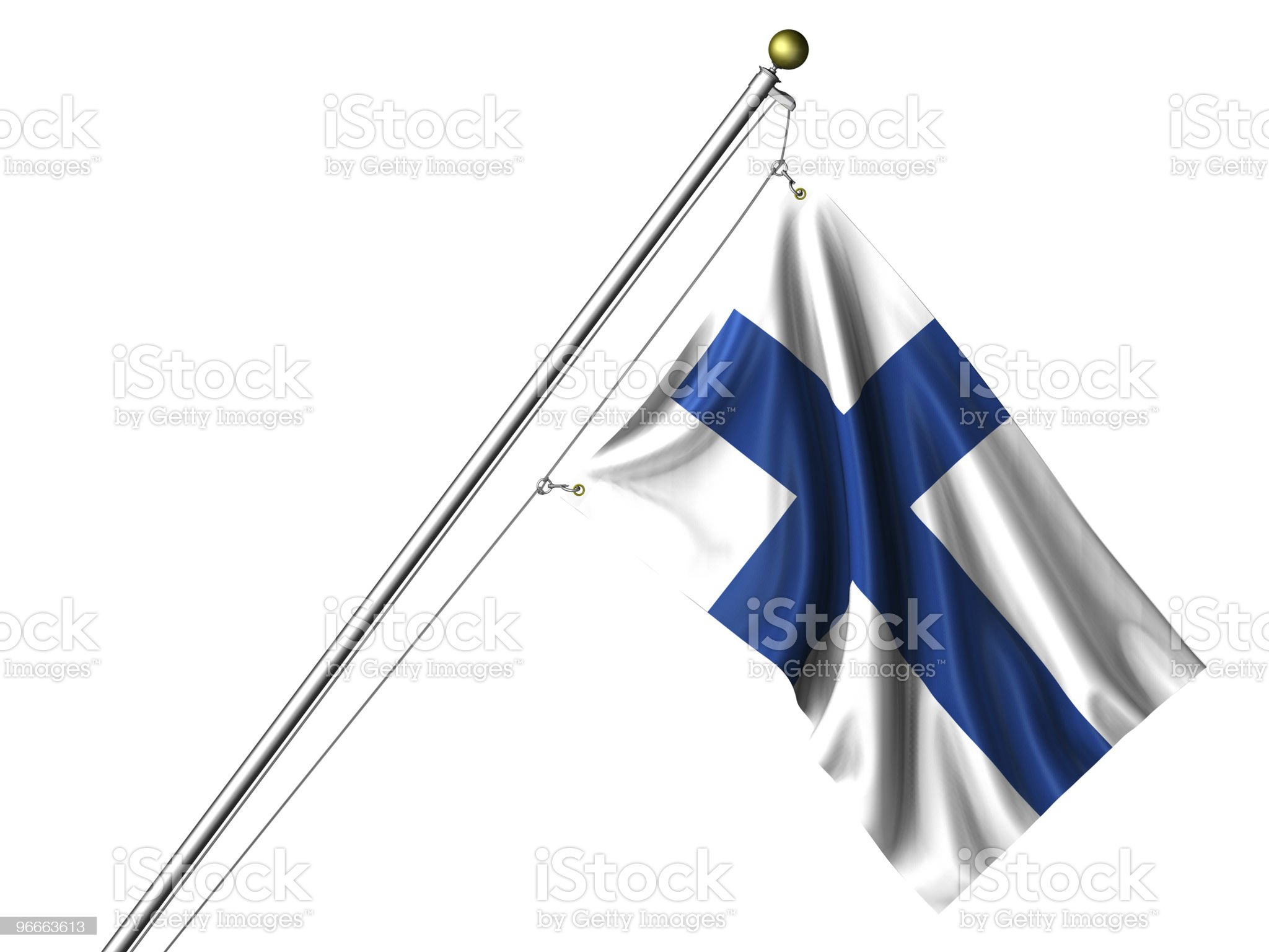 Isolated Finnish Flag royalty-free stock vector art