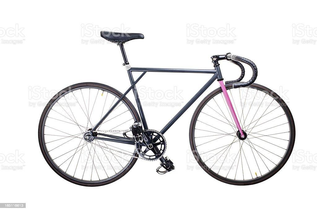 isolated fixie bike stock photo