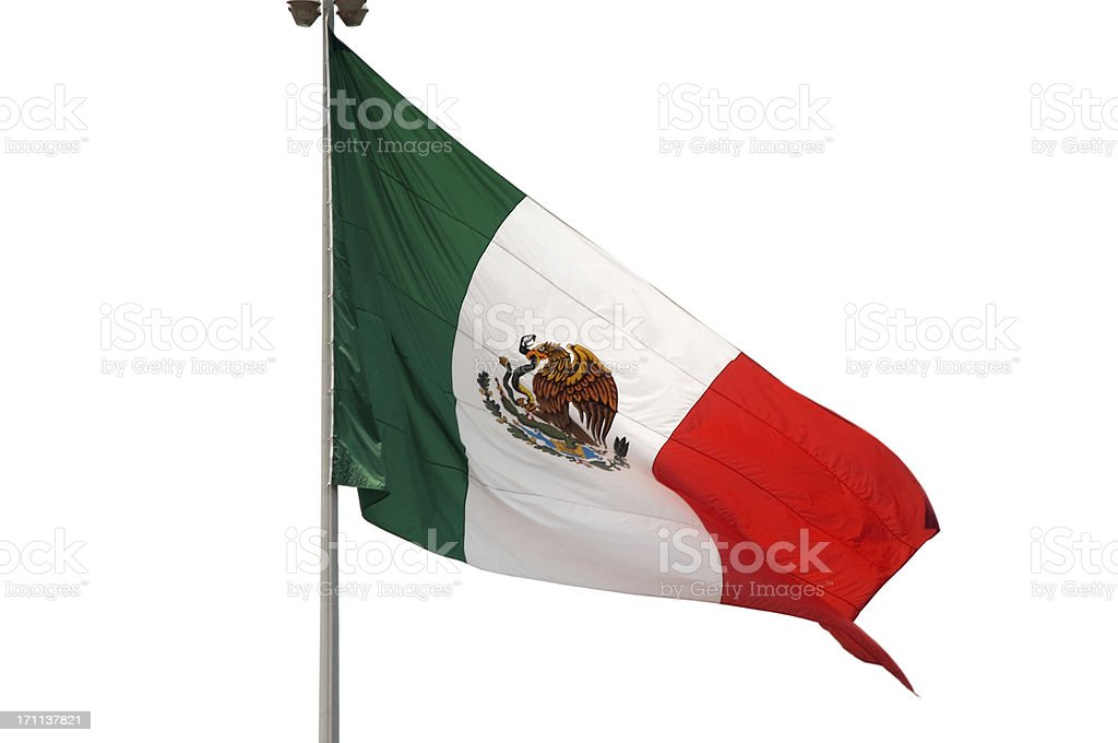 Isolated flag of Mexico royalty-free stock photo