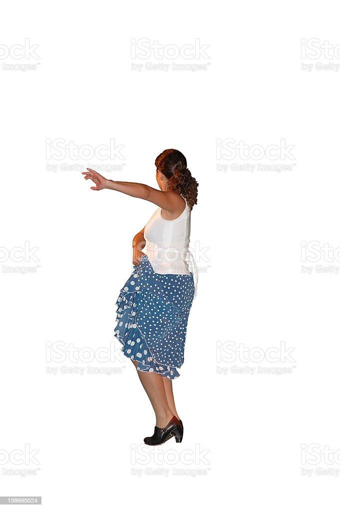 Isolated flamenco dancer royalty-free stock photo