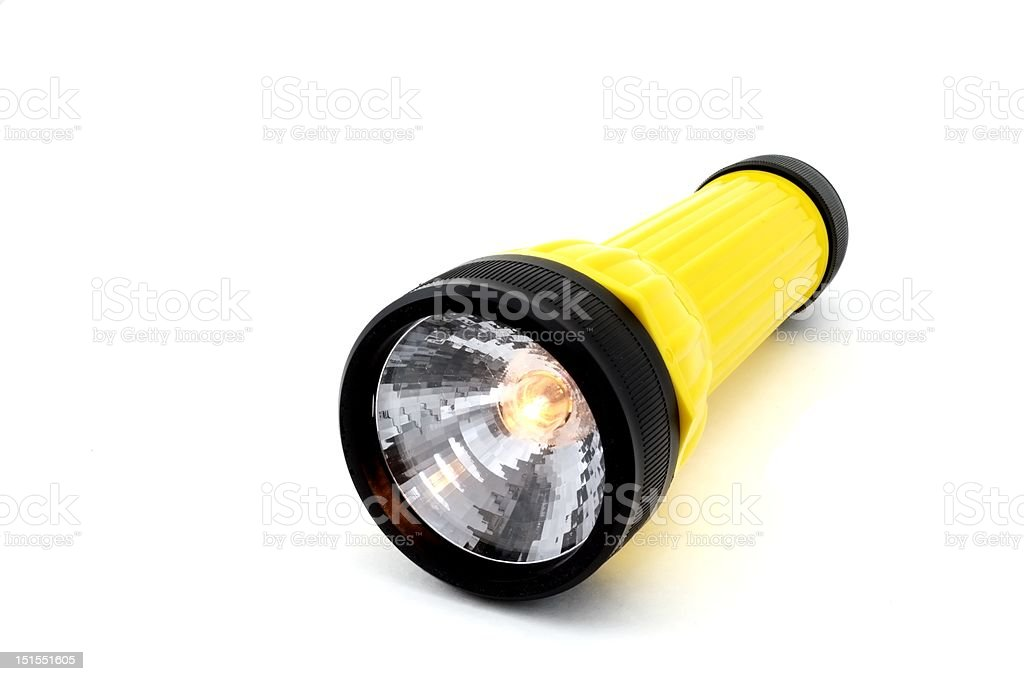 Isolated Flashlight royalty-free stock photo