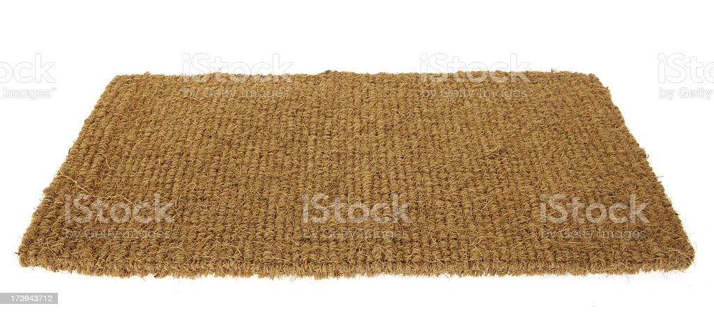 Isolated Floor Mat royalty-free stock photo
