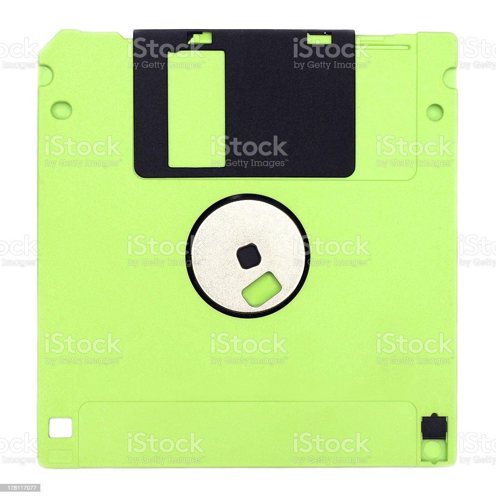 Isolated floppy disk stock photo