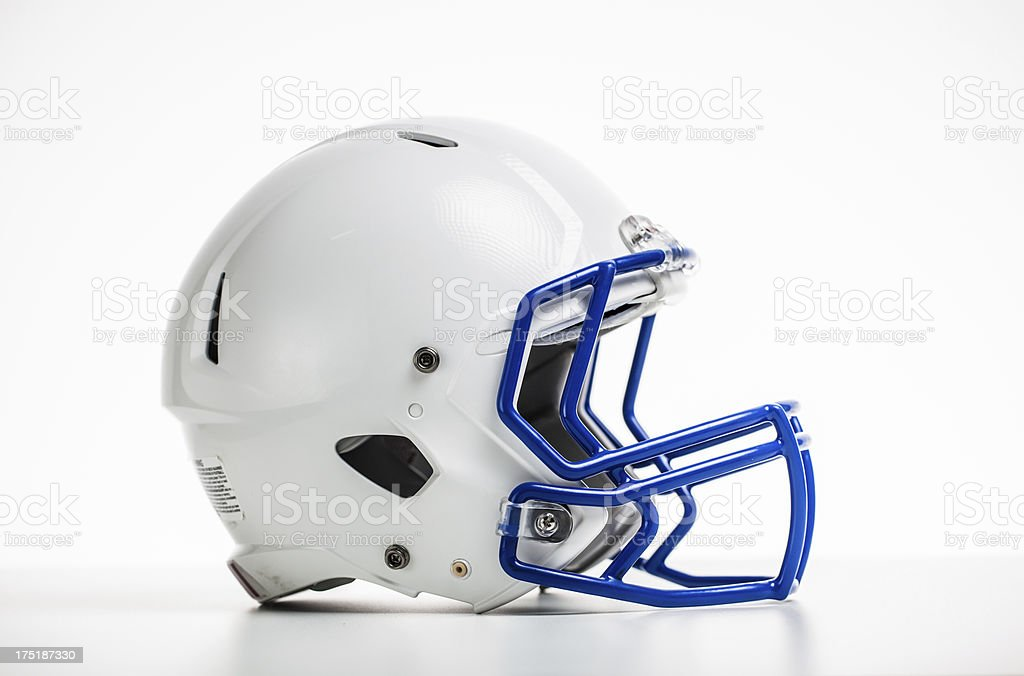 isolated football helmet stock photo