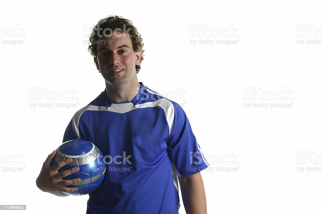 Isolated Football / Soccer Player royalty-free stock photo