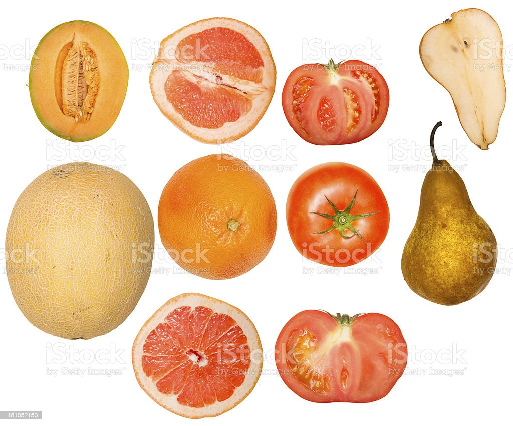 Isolated Fruit Multi Pack with clipping path royalty-free stock photo
