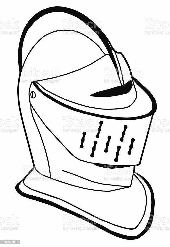 Isolated Full Face 16th Century War Helmet stock photo