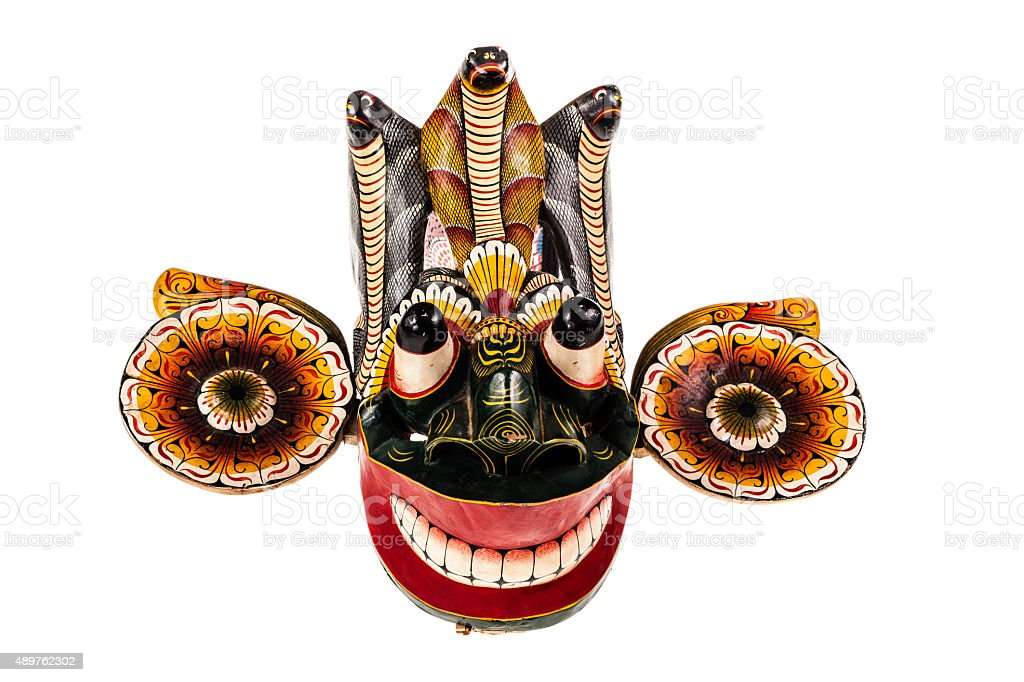 Isolated Gara Raksha Mask stock photo