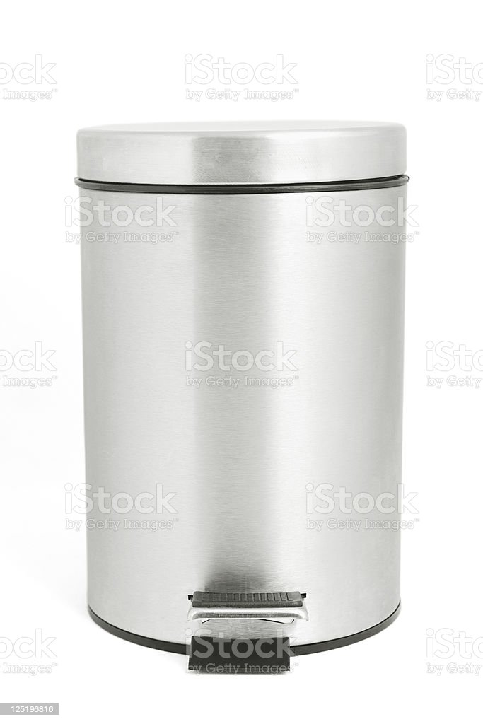 Isolated garbage bin with clipping path stock photo