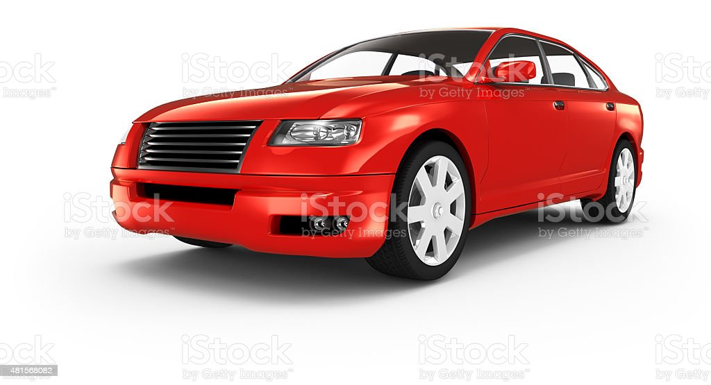 Isolated generic car stock photo