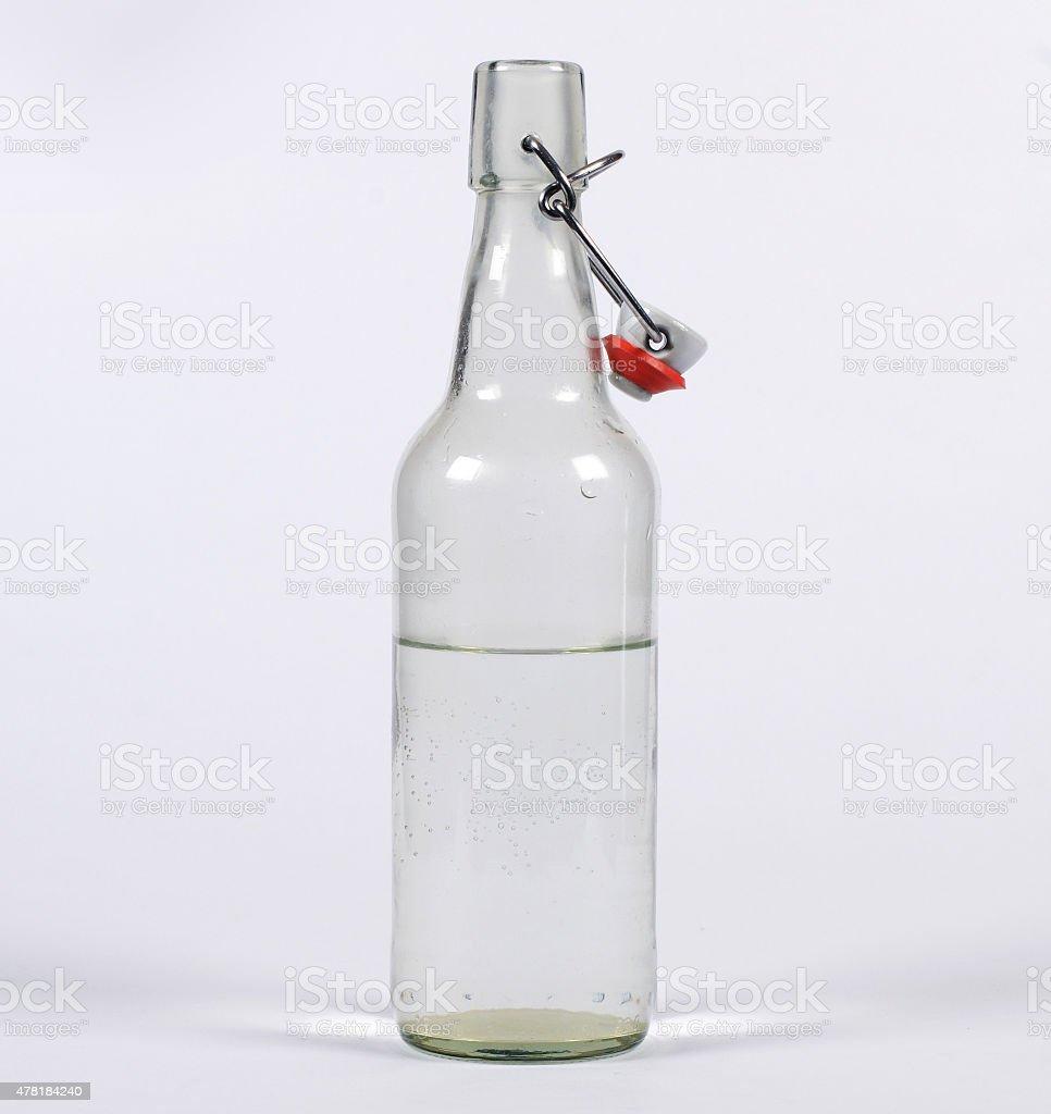 Isolated Glass Flip-Top Bottle open stock photo