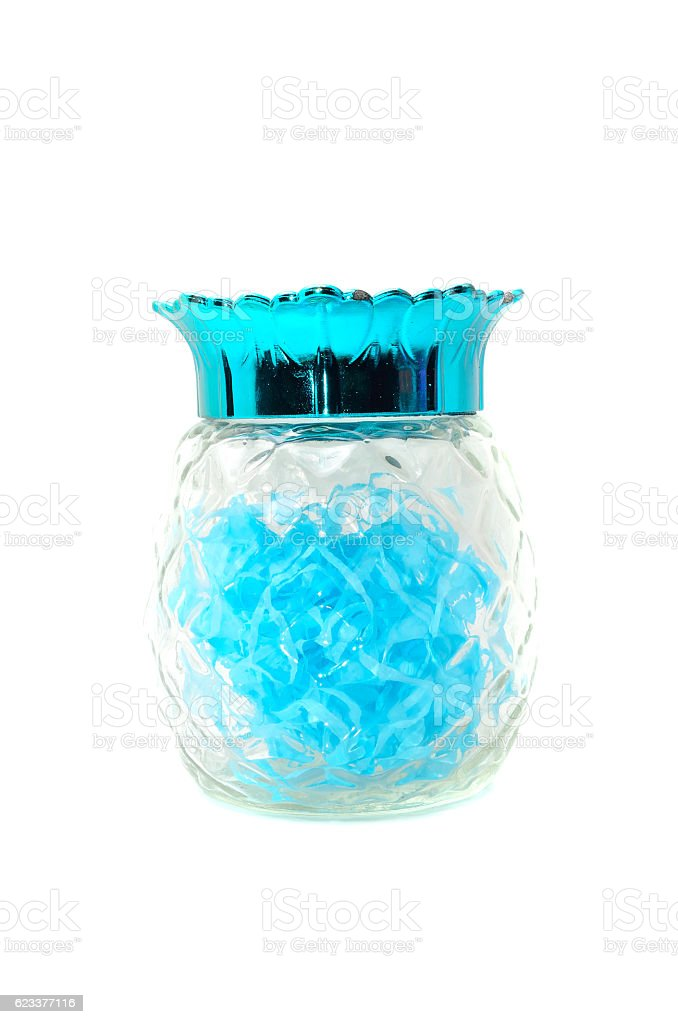 Isolated glass jar stock photo