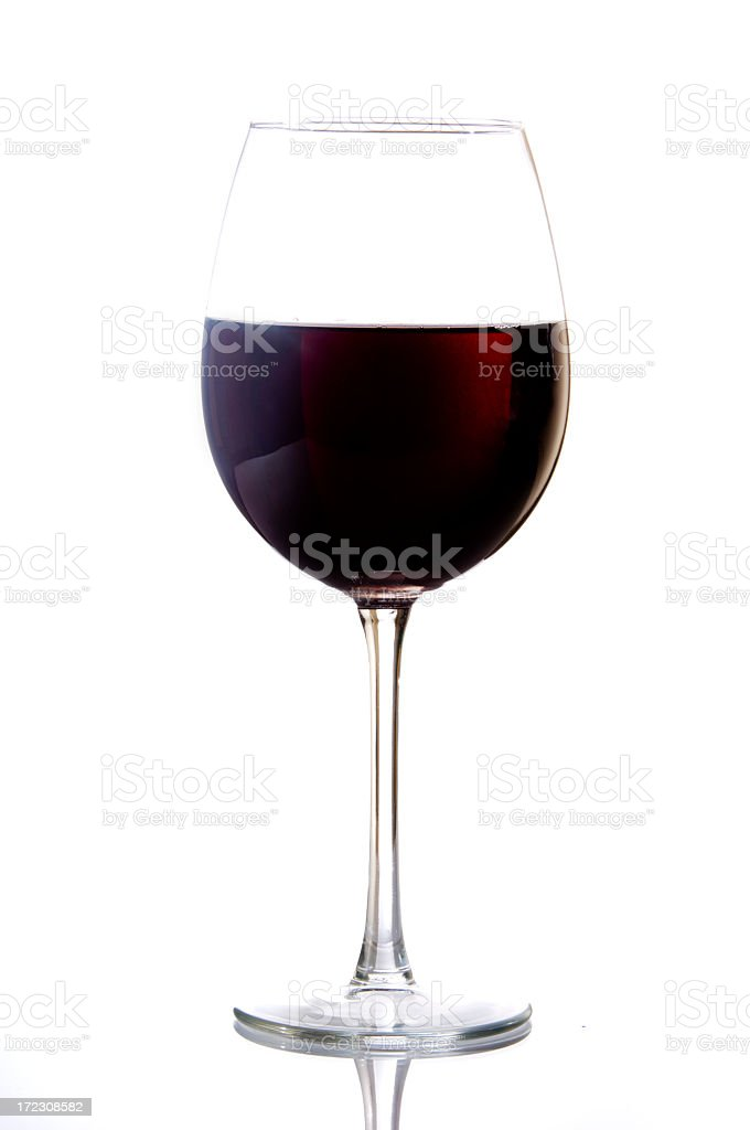 Isolated glass of dark red wine royalty-free stock photo