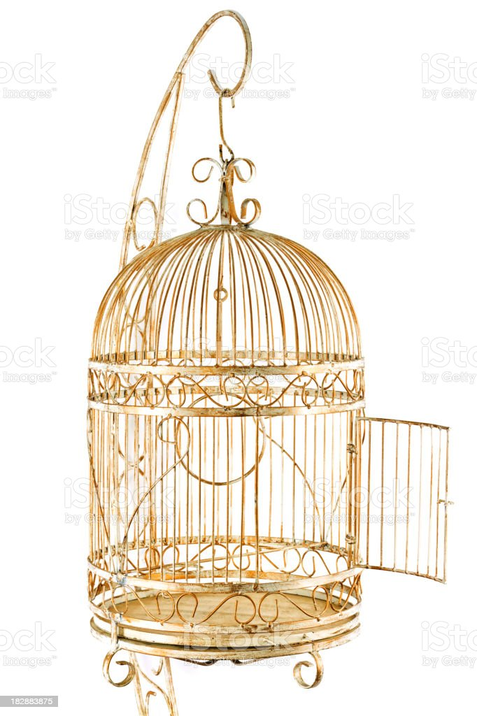 Isolated Gold Cage stock photo