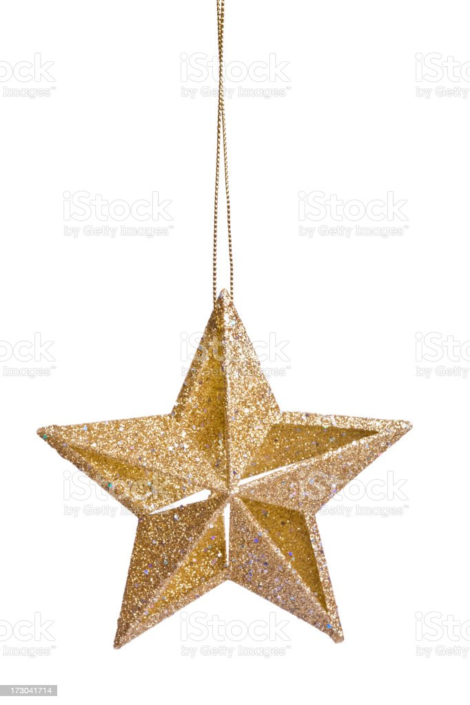 Isolated Gold Star (XXL) stock photo