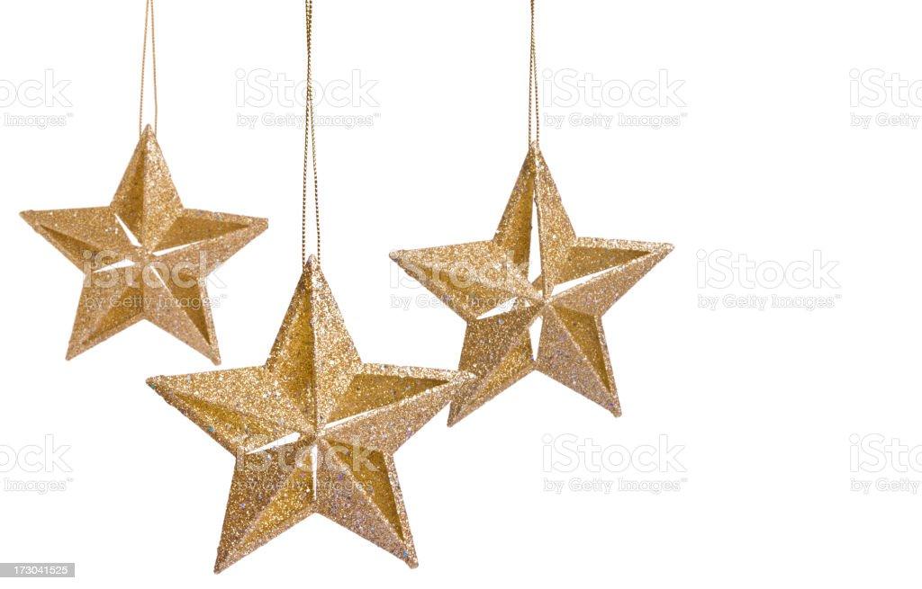 Isolated Gold Stars (XXL) royalty-free stock photo