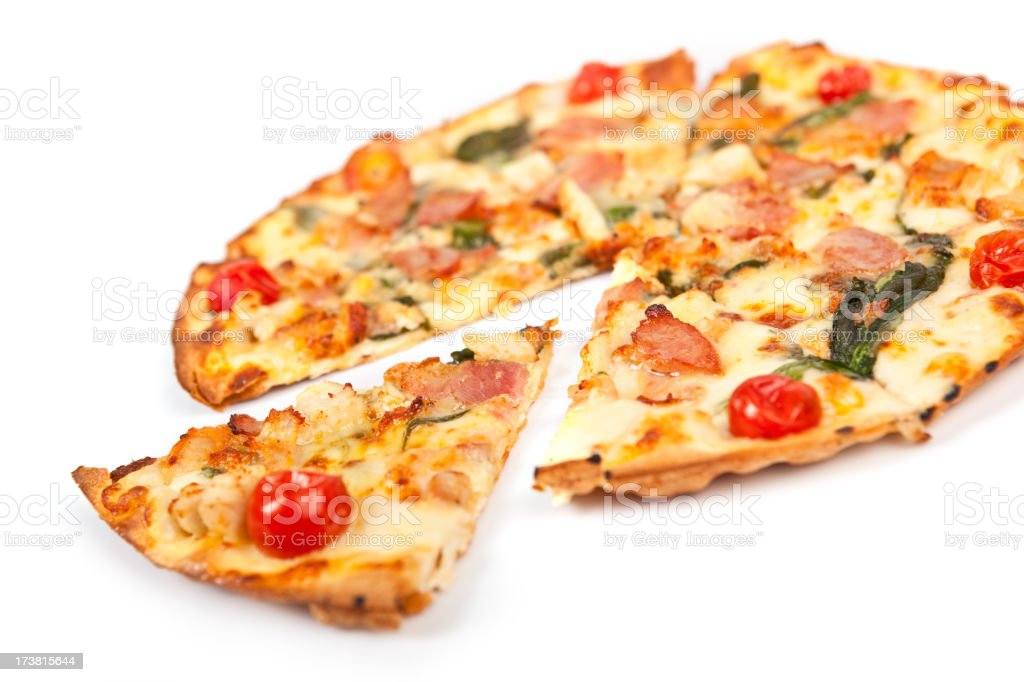 Isolated Gourmet pizza royalty-free stock photo