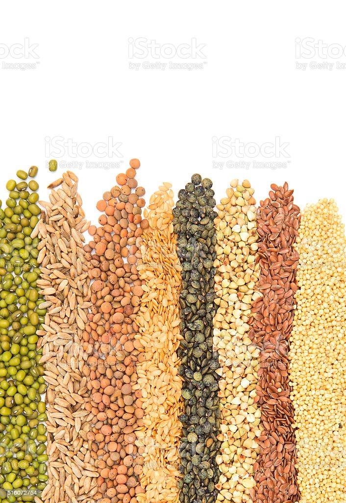 Isolated grains stock photo